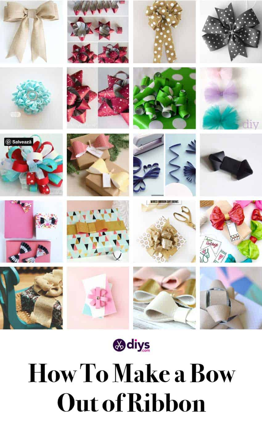 How To Make a Bow Out of Ribbon: 25 Awesome DIY Bow Ideas