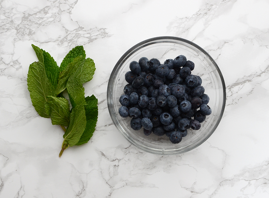 Infused water ideas blueberry mint 1