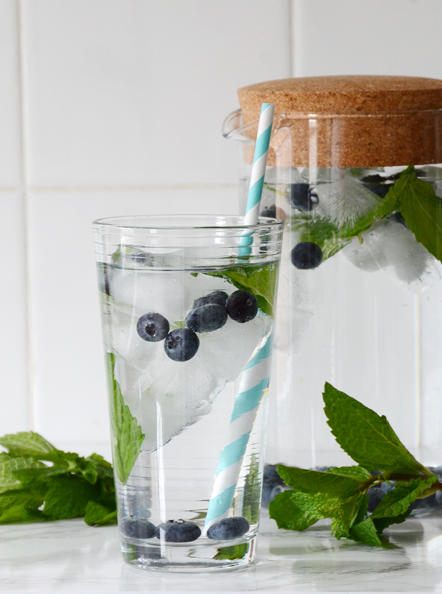 Infused water ideas blueberry mint 2