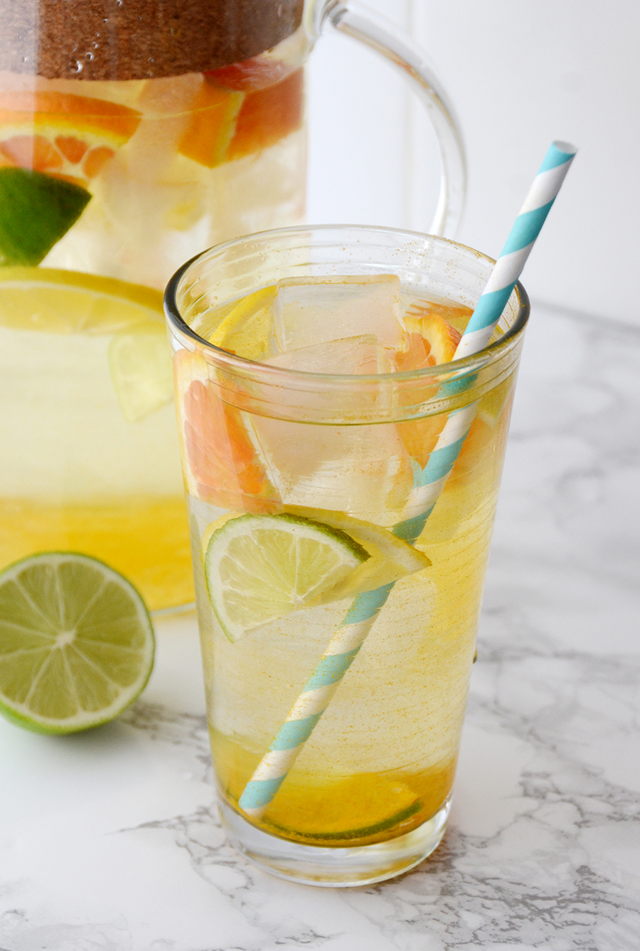 Infused water ideas citrus turmeric 2