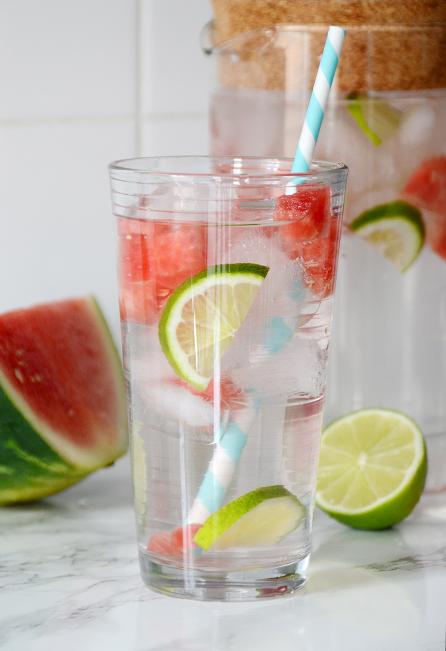 Infused water ideas watermelon lime 2