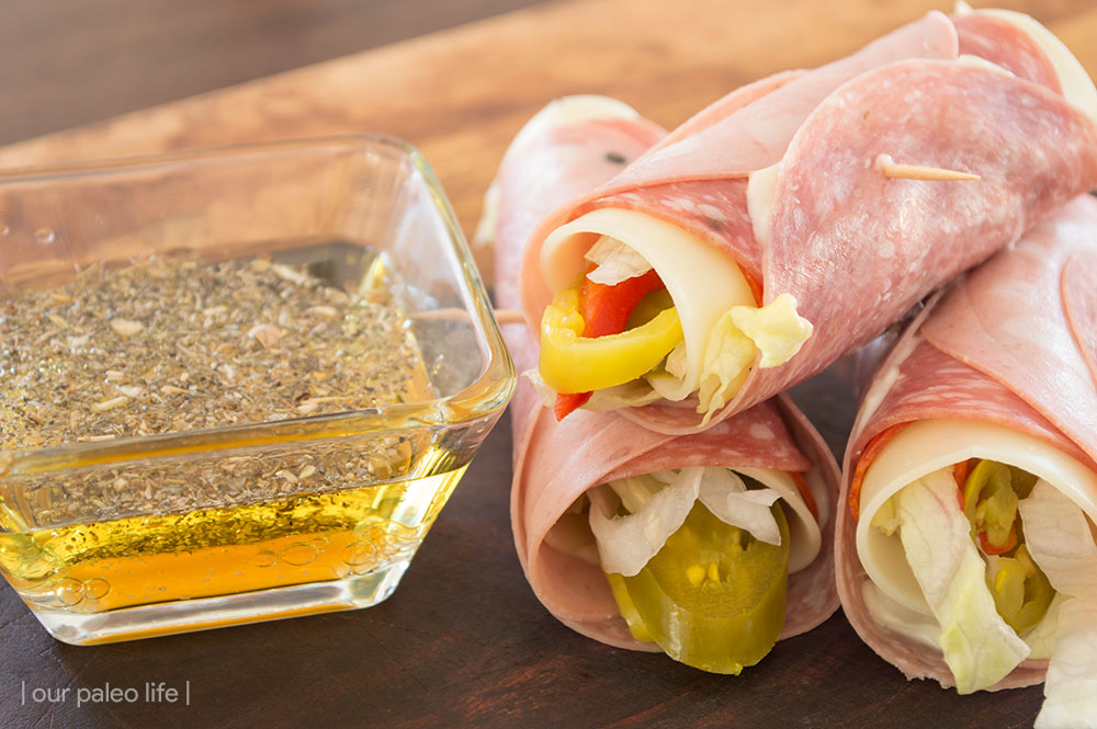 Italian sub rollup low carb