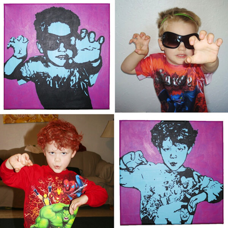 Kid picture andy warhol paintings