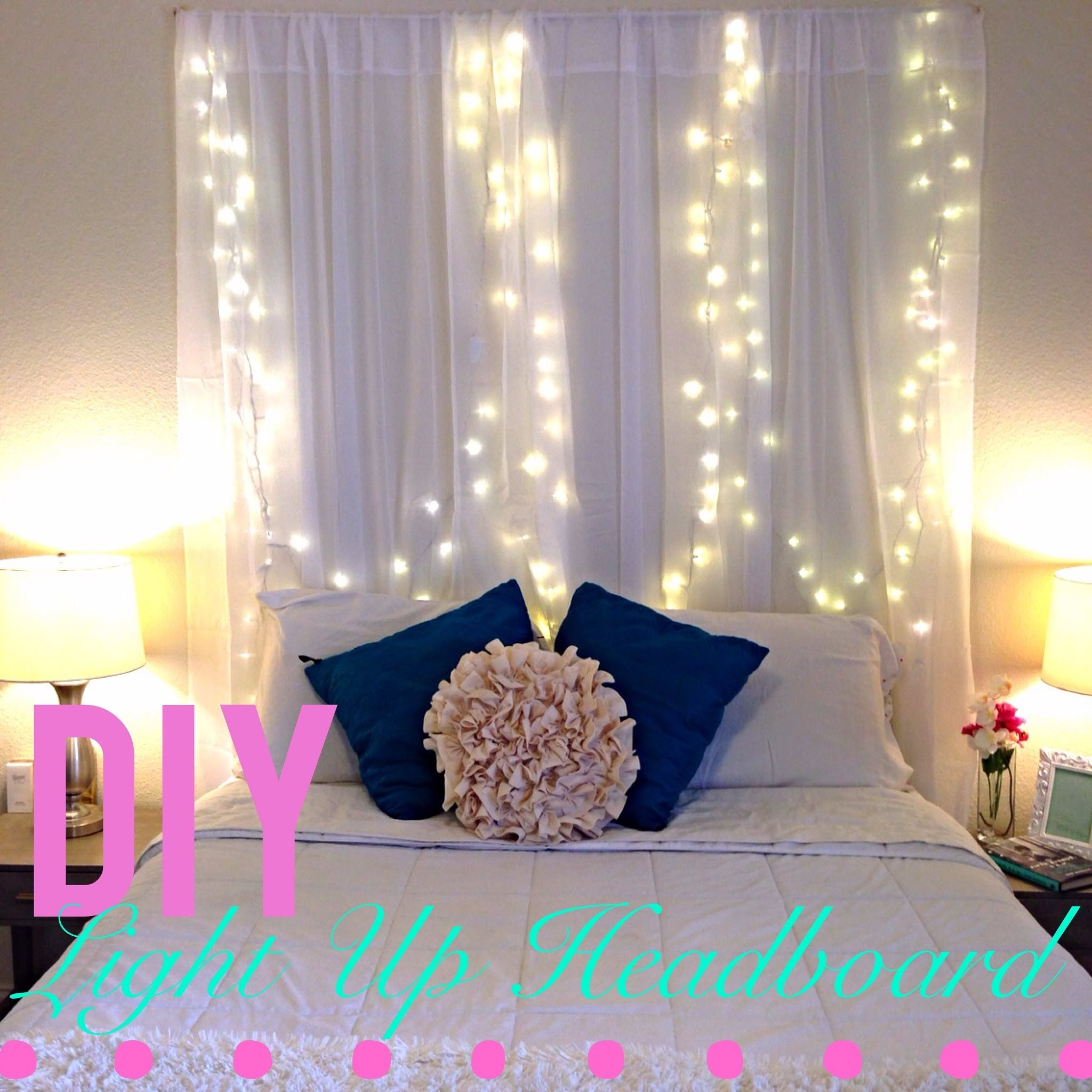 Led curtain headboard