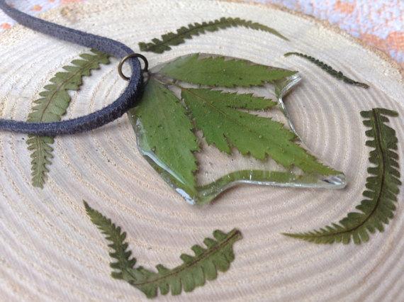 Large resin leaf