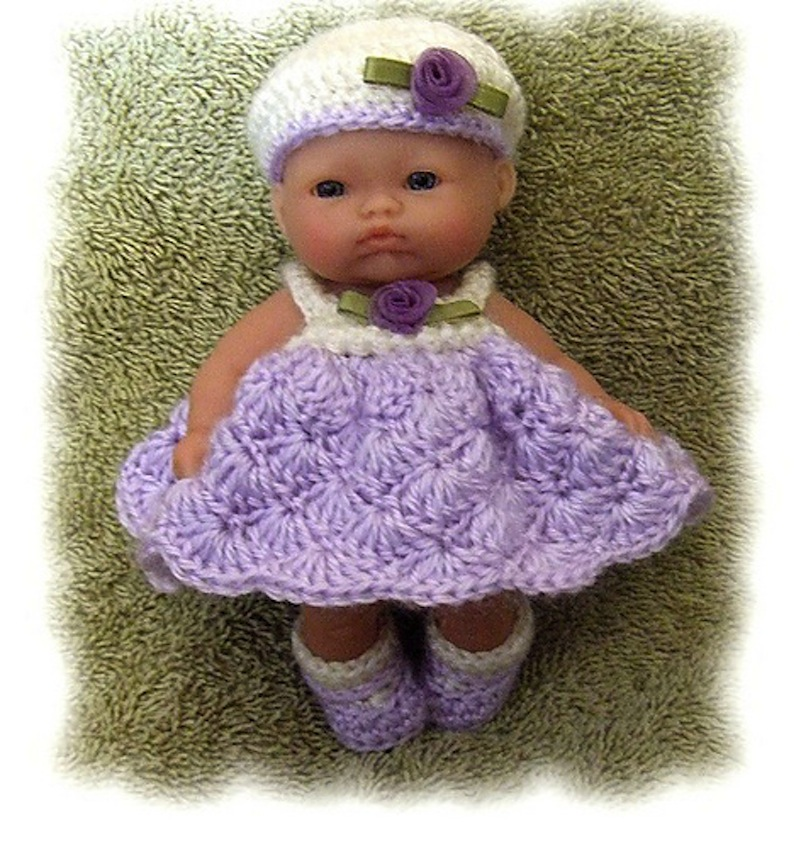 How to crochet pretty dress / doll outfit crochet - YouTube ... | 849x801