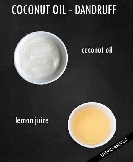 Lemon juice coconut oil mask