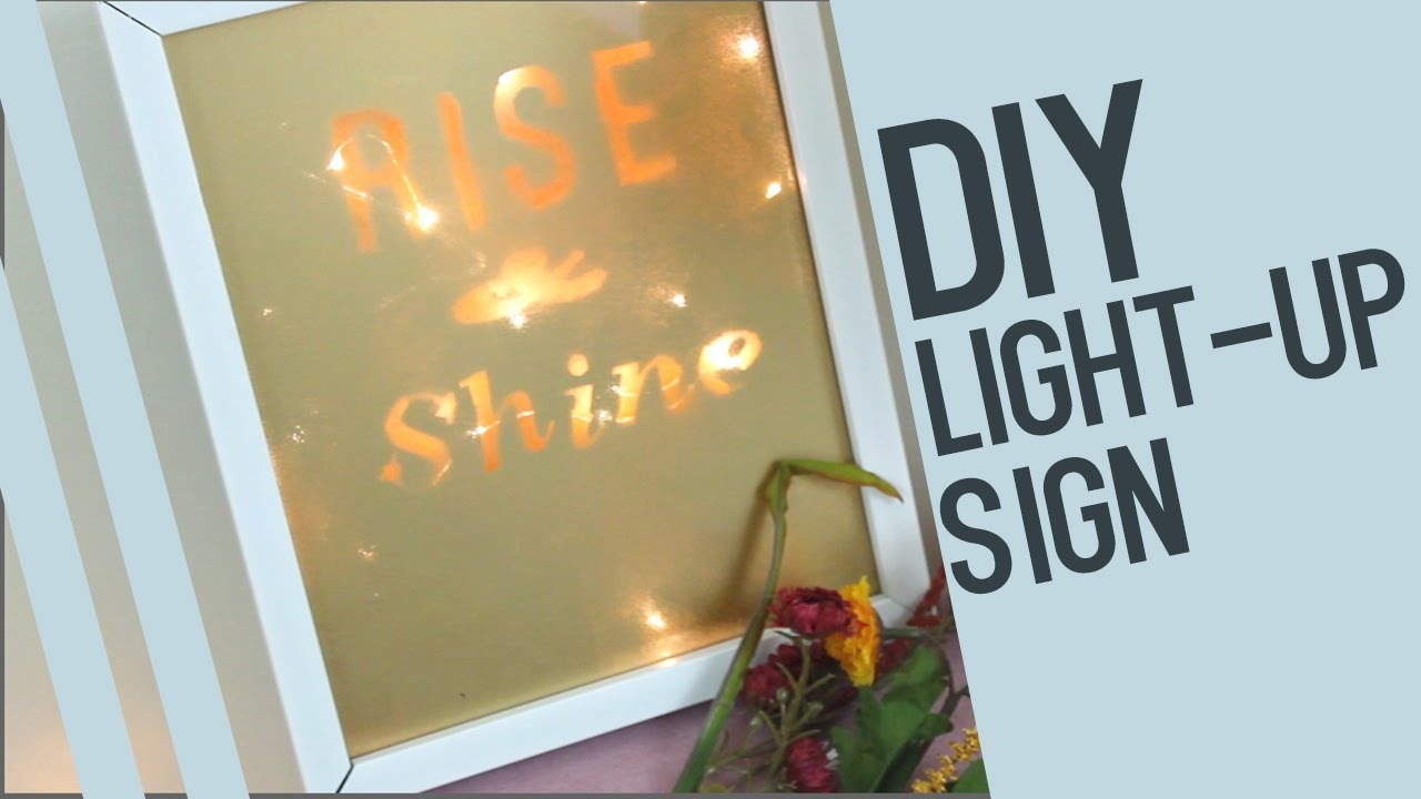 Light up inspirational quote sign