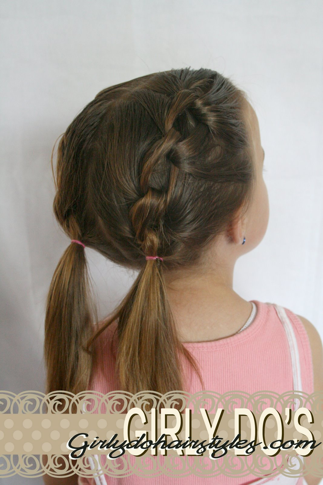 Linky pigtails toddler hairstyle