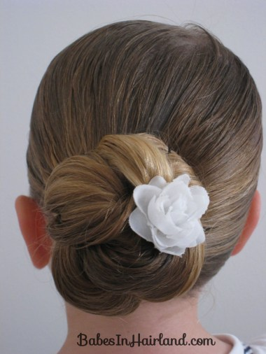 Loopy bun toddler hairstyle