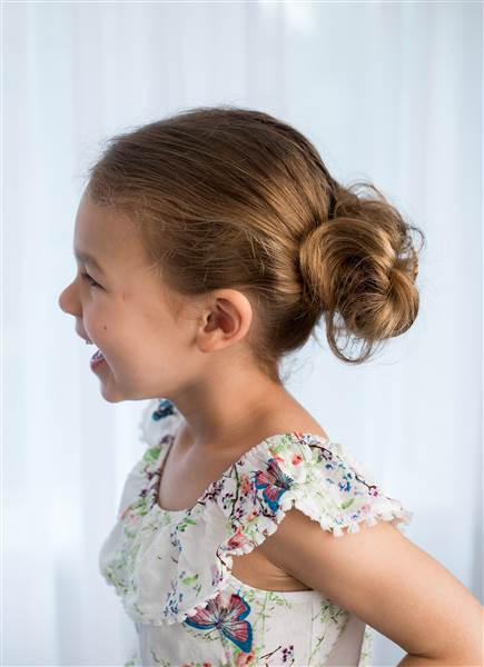 Low updo tutorial for toddlers