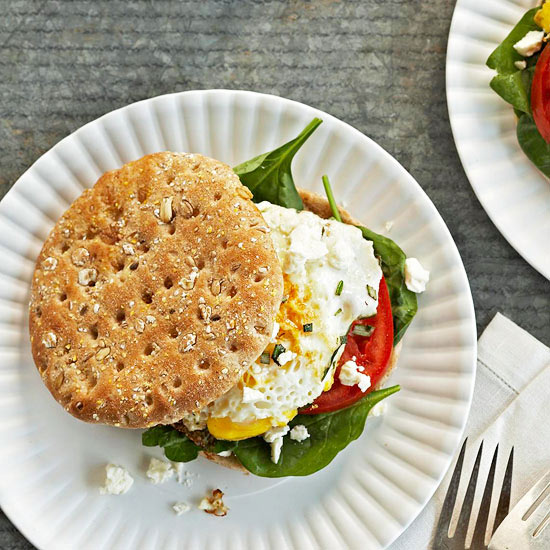 Mediterranean breakfast sandwich