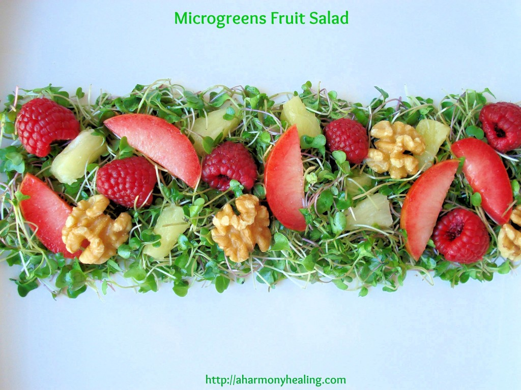 Microgreens fruit salad