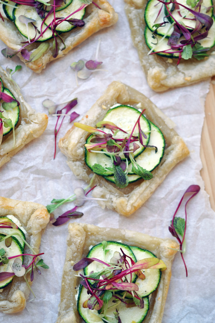 Mini+zucchini+tarts+with+microgreens+ +a+wonderful,+vegetarian+recipe+for+a+light+lunch+or+an+appetizer