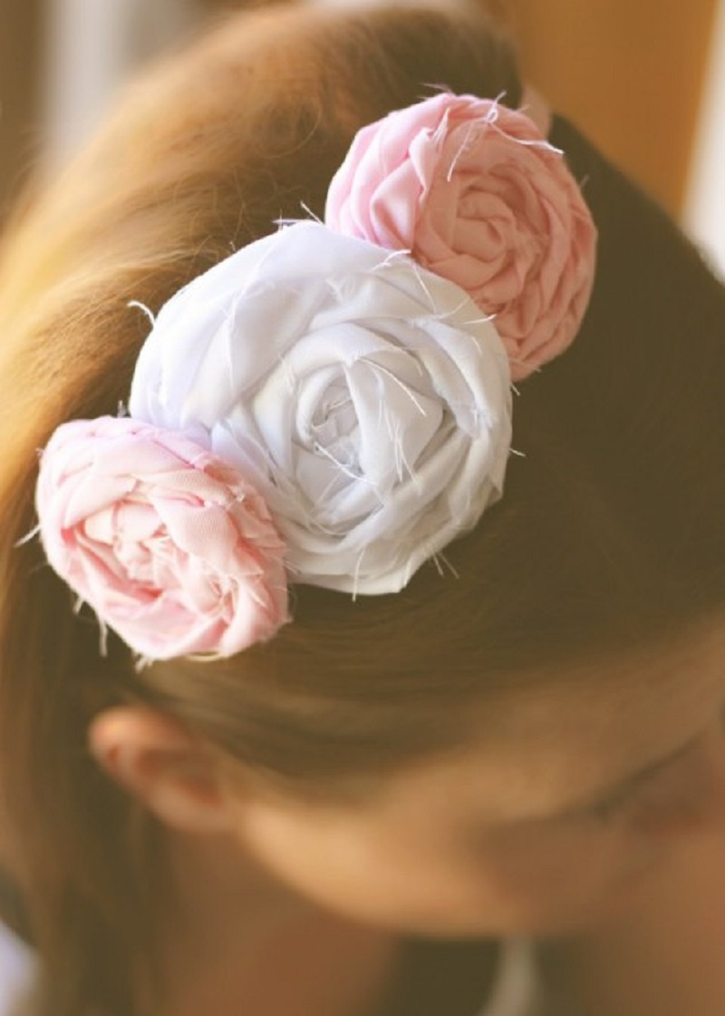 No sew floral headband