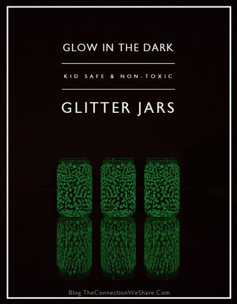 Non toxic glow in the dark glitter jars