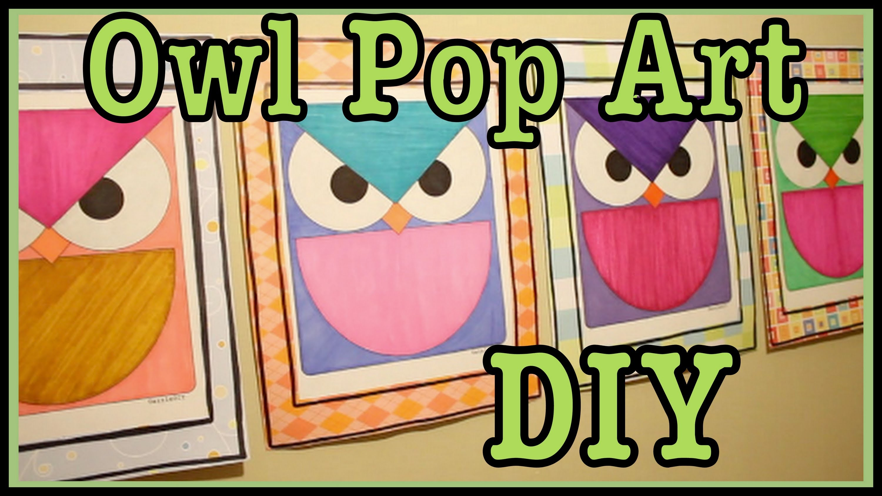 Owl pop art diy