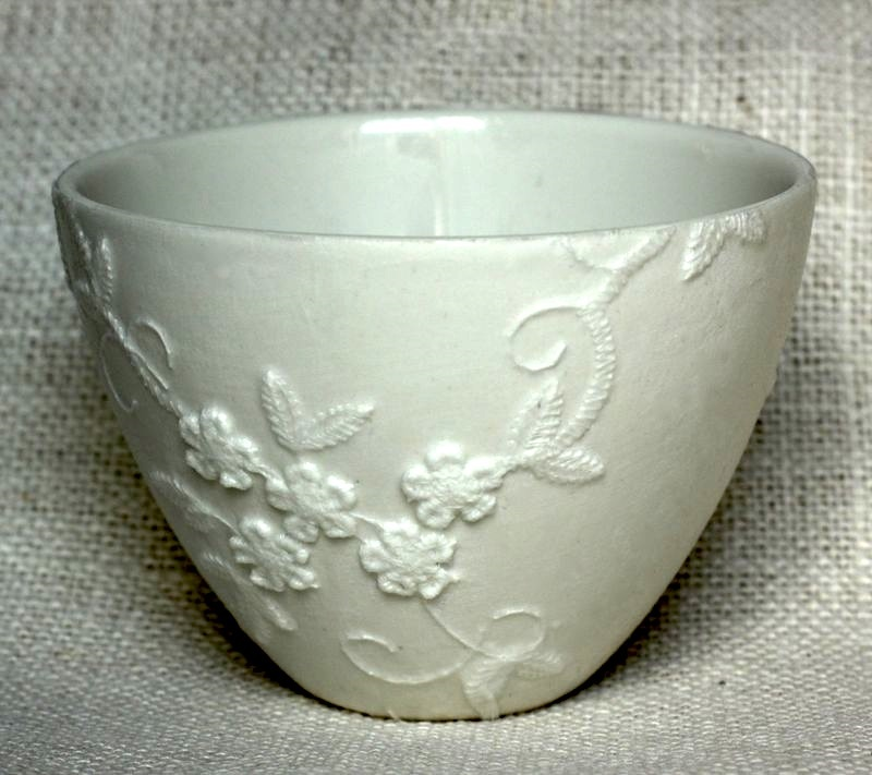 Painted lace bowl