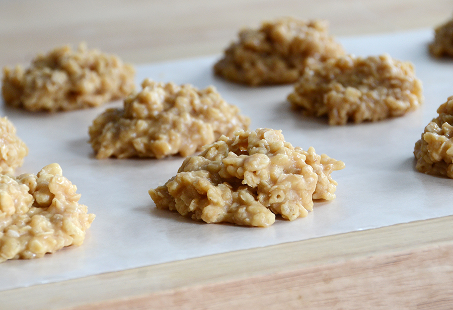 Peanut butter crisp no bake cookies 6