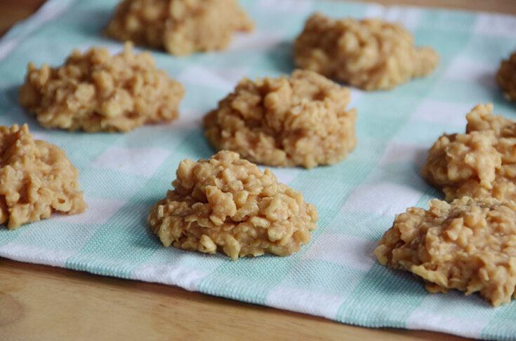 Peanut butter crisp no bake cookies 9