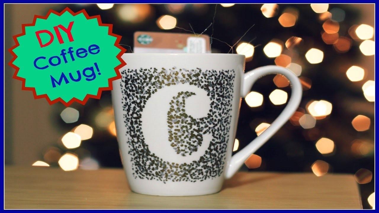 Pointillism coffee mug