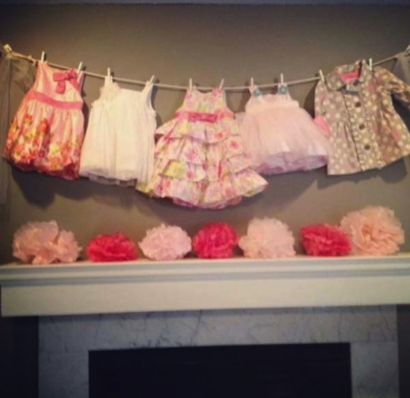 Pretty dresses hanging banner