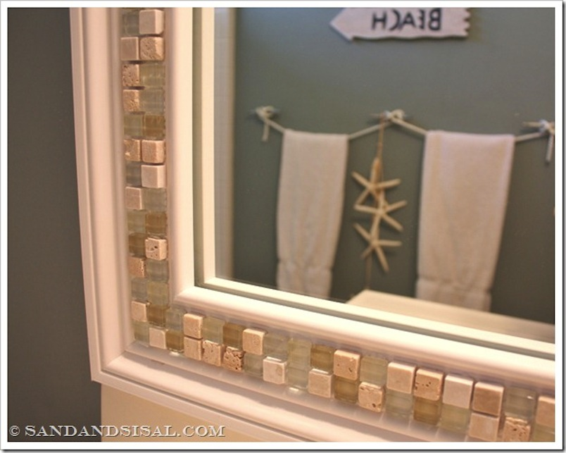 Pretty tiled moasic mirror