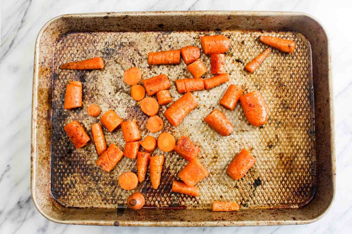 Roasted carrot hummus bake the carrots