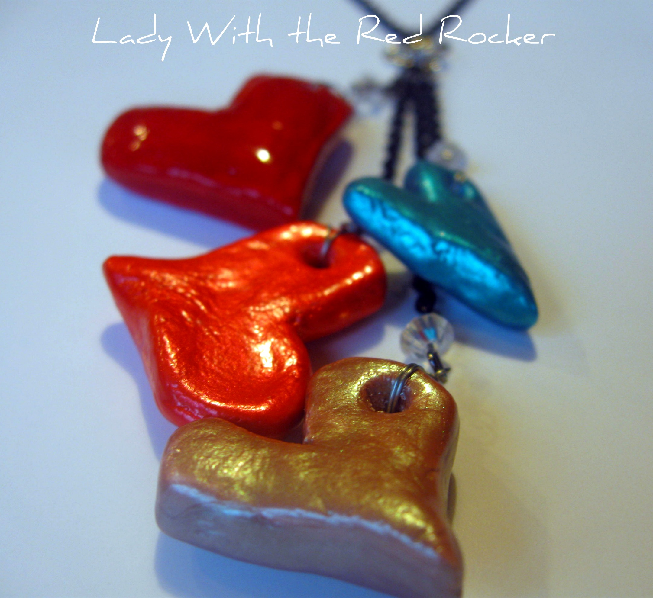Salt dough heart necklace