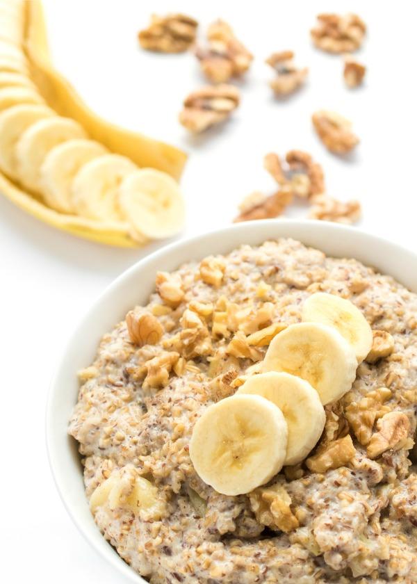 Slow cooker banana nut steel cut oatmeal a healthy breakfast recipe