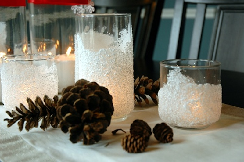 Snow drift tea light holders