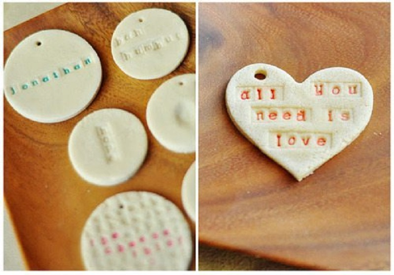 Stamped quote ornaments