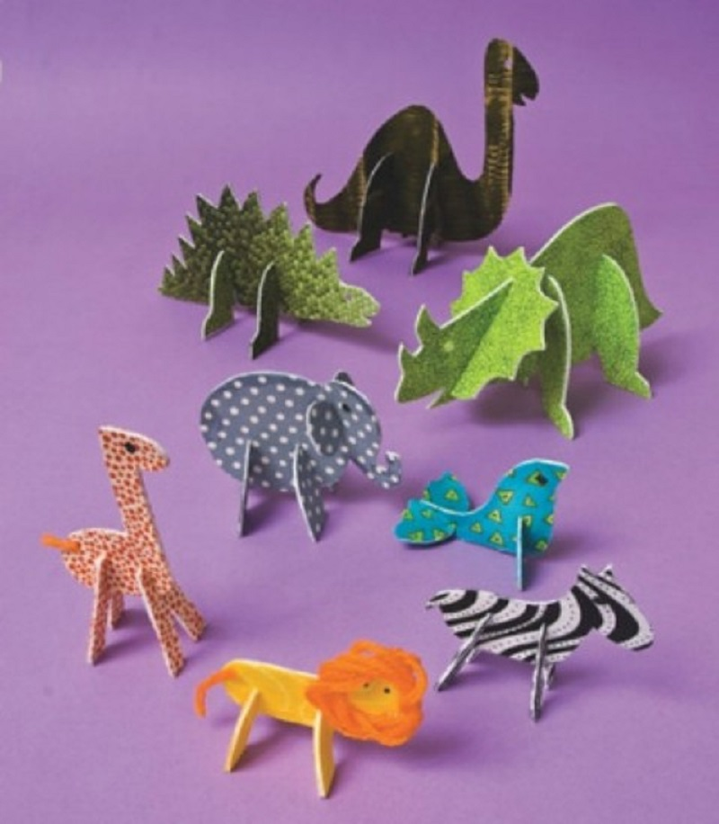 Standing fabric animals