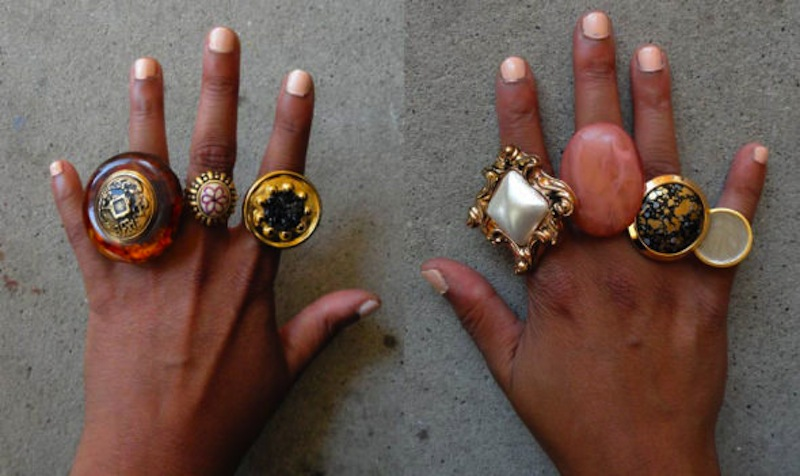 Statement button rings