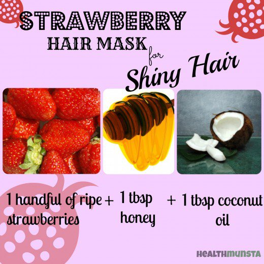 Strawberry coconut oil mask