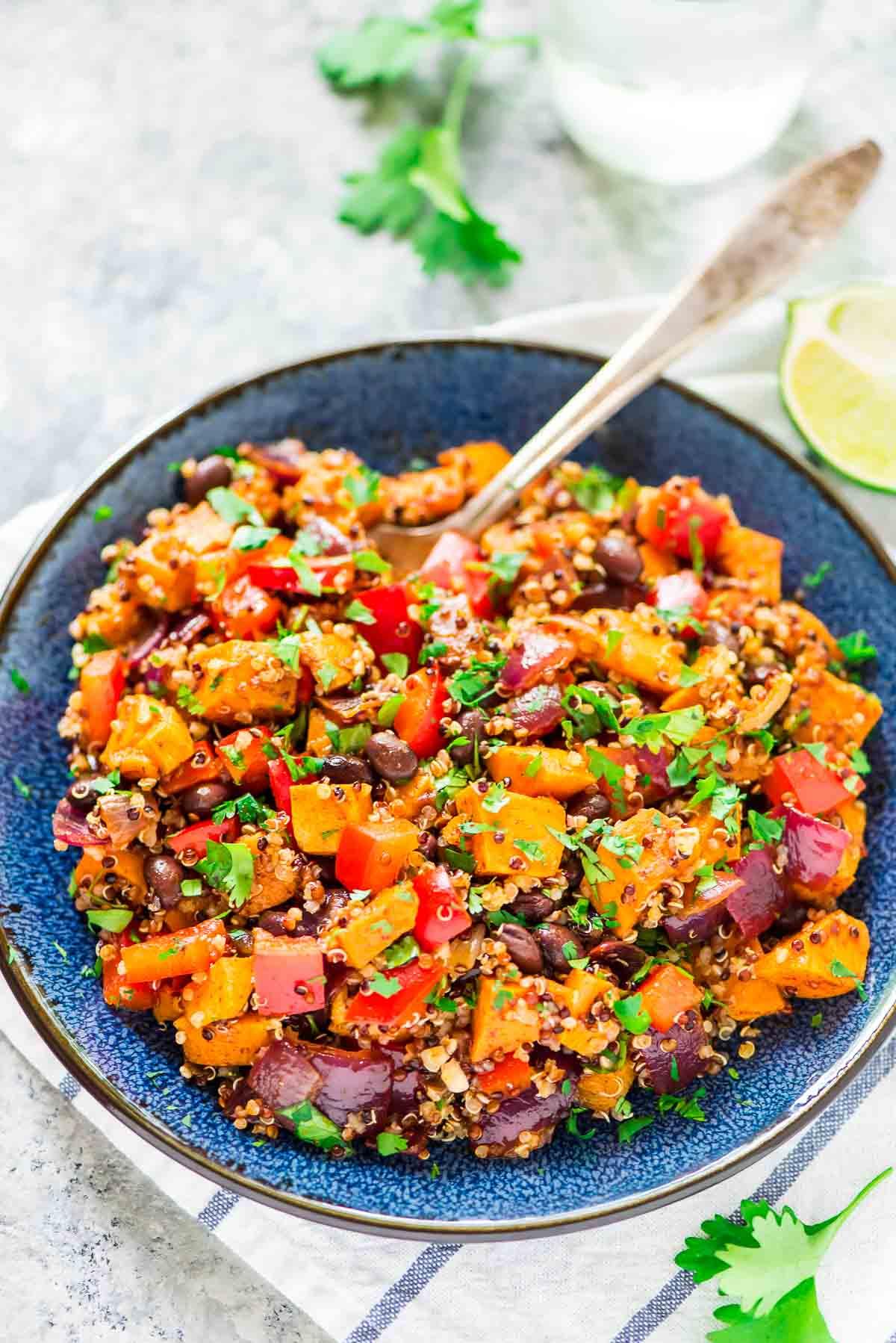 Sweet potato quinoa black bean salad
