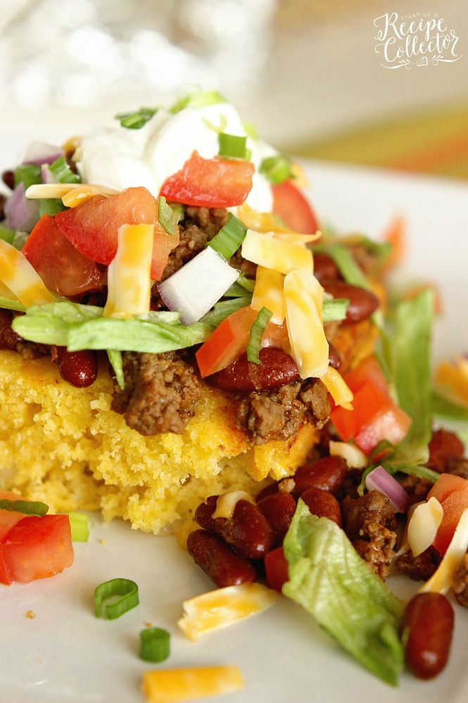 Taco cornbread with cornmeal