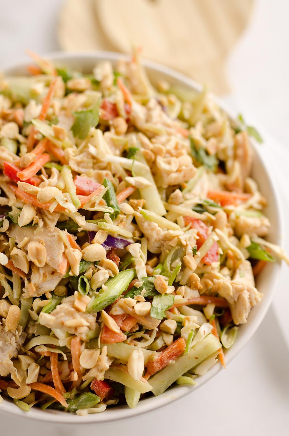 Thai peanut chicken crunch slaw salad the creative bite 4 copy