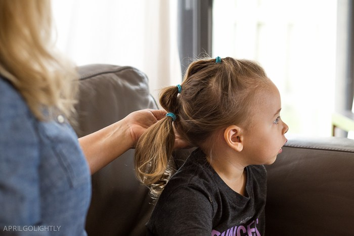 Three ring ponytail tutorial