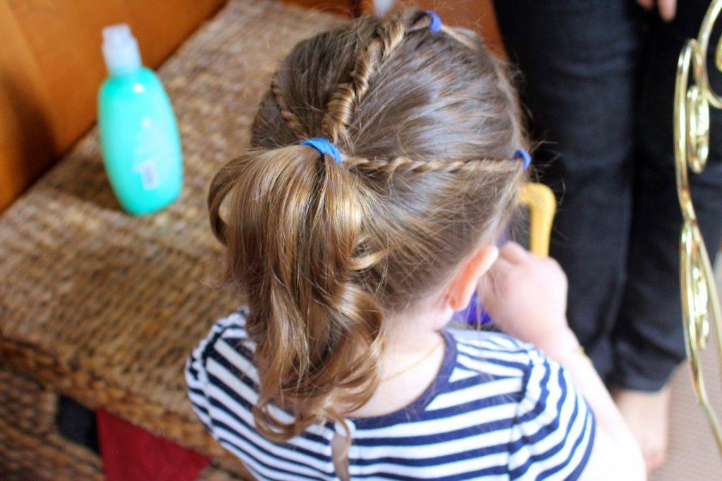 Three secton ponytail