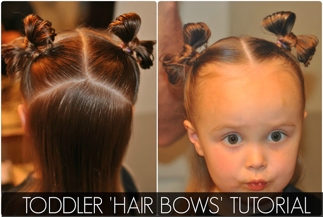 Toddler double hair bows tutorial