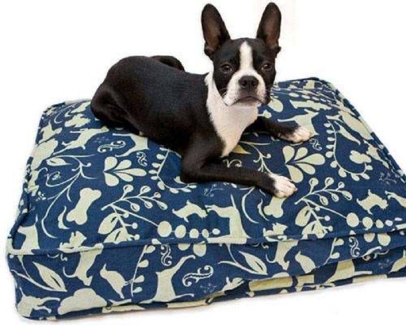 Upcycled bedding cushion