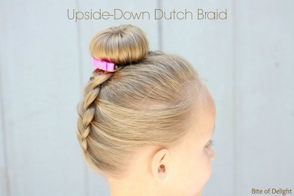 Upside down dutch braid