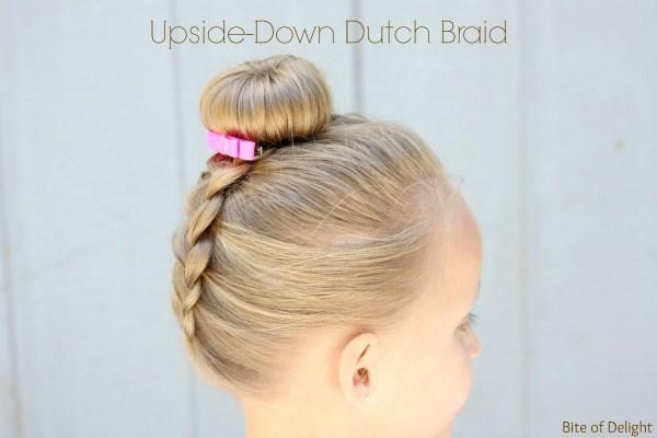Upside down dutch braid