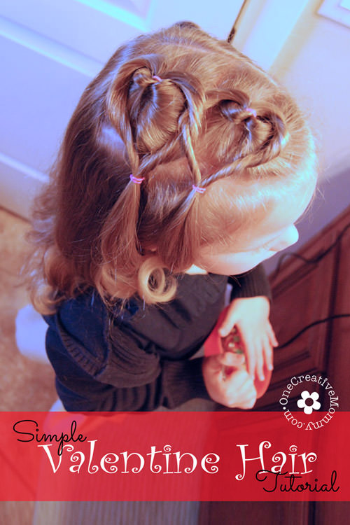 Valentine's day hair for toddlers