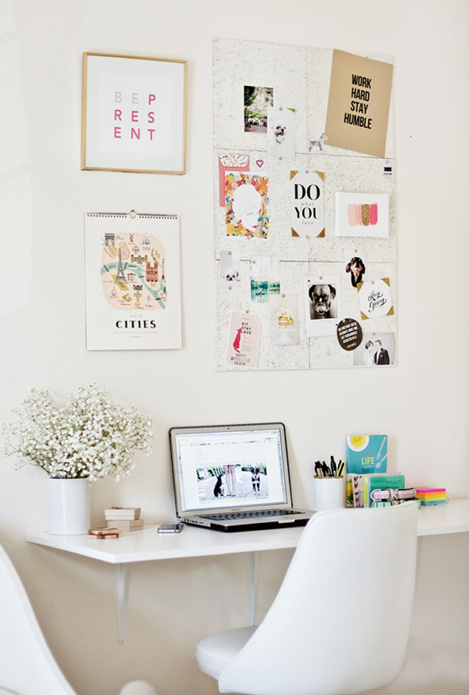 Wall mounted desk white diy