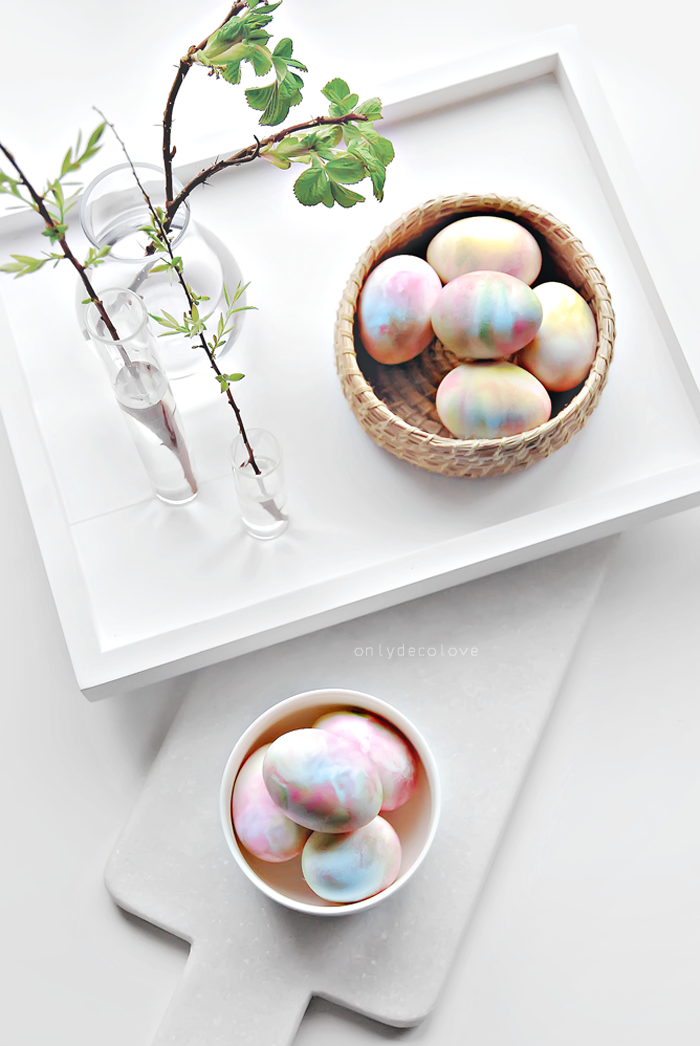 Whipped cream easter egg diy