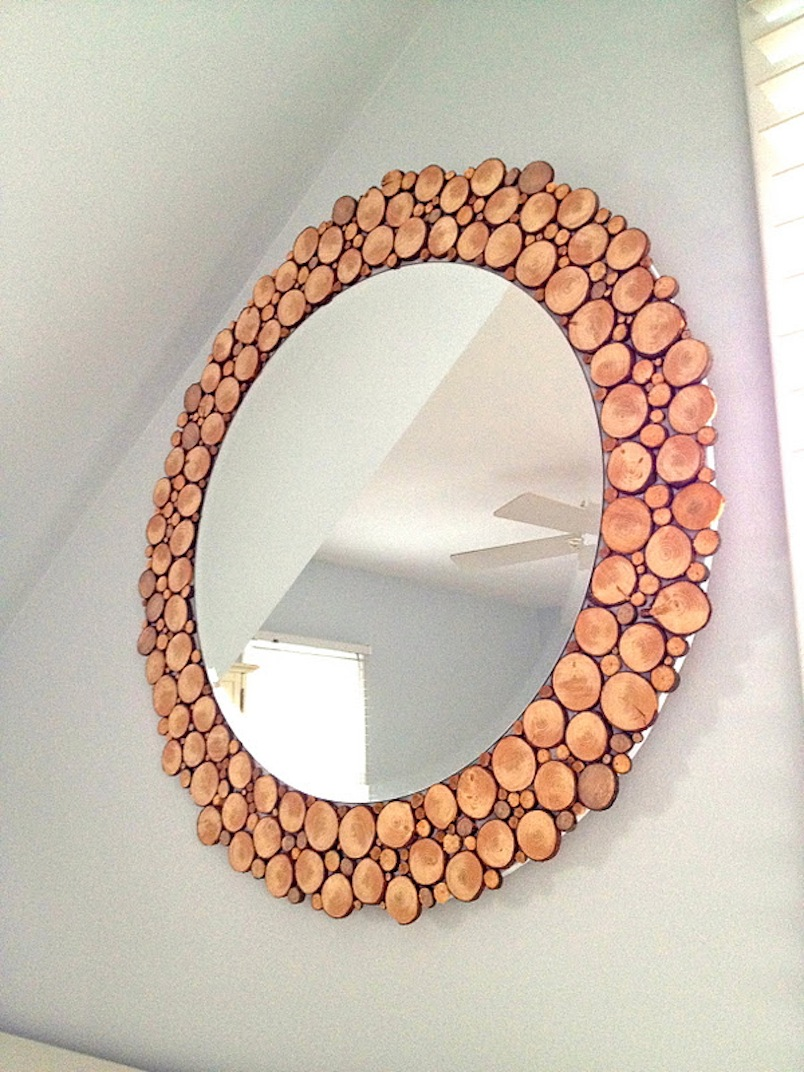 Wood rounds mirror