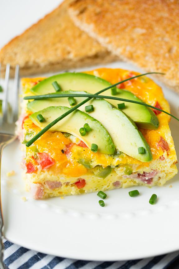 Baked denver omlete