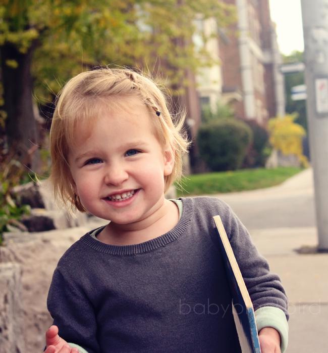 Bang braid for toddlers